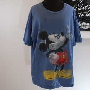 Disney Mickey Mouse Pencil Drawing Tee Size XXL